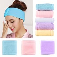 Toweling Hair-Wrap Shower-Cap Makeup-Head-Band Salon Make-Up-Accessories Adjustable SPA