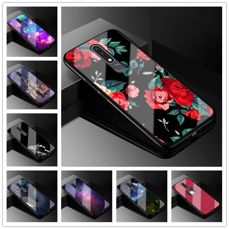 For Nokia 8.1 Case Tempered Glass Phone Cover For Nokia 6.1 Plus X6 X7 X5 5.1 Plus X71 7 Plus Cases 6.1Plus 7Plus for Nokia8.1