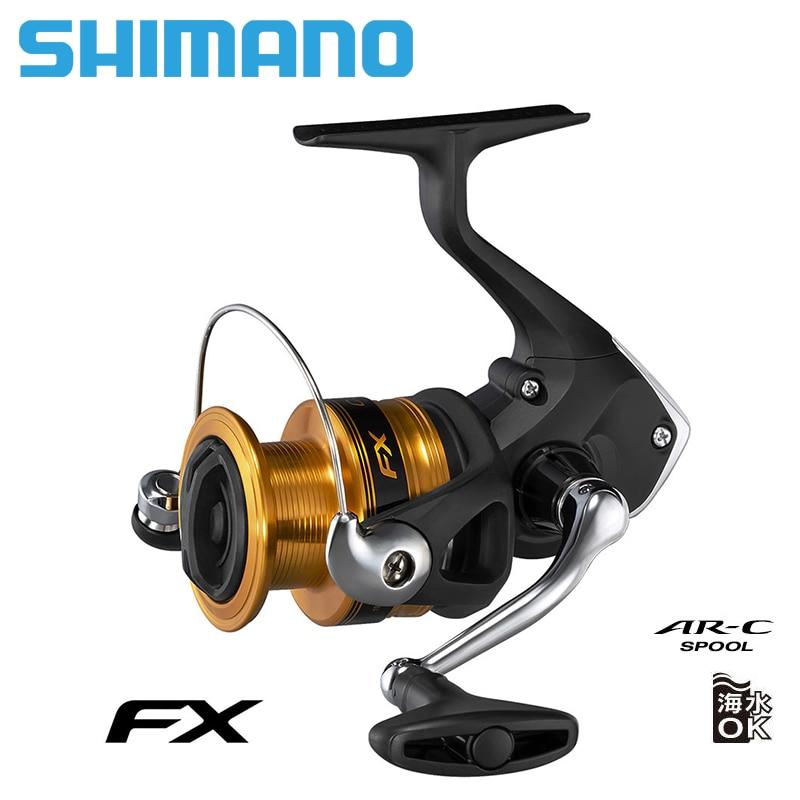 NEW SHIMANO FX Fishing Spinning Reel 1000/2000/2500/2500HG/C3000/4000 2+1 BB max drag 4kg/8.5kg Reels Fishing Wheel metal spool