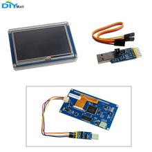 Nextion Basic NX4827T043 4.3'' HMI LCD Display Module TFT Touch Panel with Case USB to ESP8266 ESP-12 Wireless Wifi Module dop b10s615 delta hmi 10 1 widescreen1024 600 tft usb host 2com with free cable