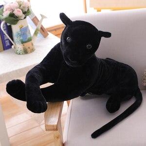Image 5 - 30 120 см гигантская черная леопардовая пантера Плюшевые игрушки Мягкая мягкая подушка для животных кукла для животных Желтый Белый тигр игрушки для детей