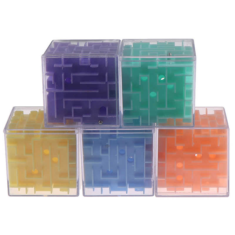 4pcs 3D Magic Cube Puzzle Speed Cube Puzzle Labyrinth Ball Toy Track Maze Toys/_H