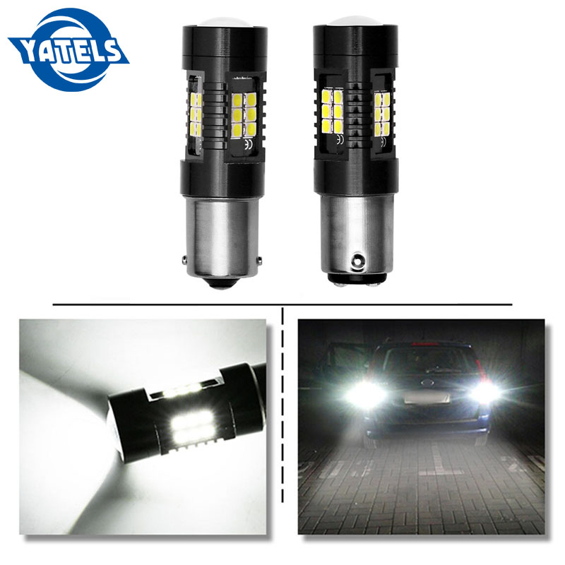 2X 1200 Lumens 1156 50W High Power Chip LED White Reverse Back Up Lights Bulbs