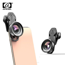 Apexel HD 110 درجة زاوية واسعة عدسة كاميرا الفيديو لعدسة مزدوجة عدسة واحدة آيفون ، بكسل ، سامسونج غالاكسي جميع الهواتف الذكية ل شاومي