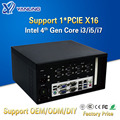 Yanling novo intel core i3 4160 i5 4460 i7 4770 industrial desktop mini pc com suporte ventilador nvidia gráficos discretos e pcie x16