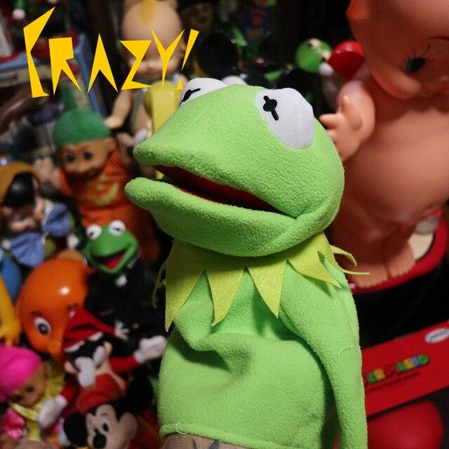 Grand 60cm rue sésame le Muppet Show Kermit grenouille marionnettes en peluche poupée jouets en peluche pour enfants cadeau de fête de noël
