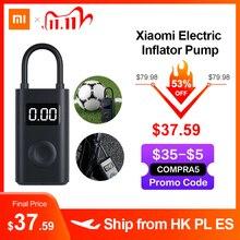 Xiaomi mi mijia portátil inteligente digital de detecção pressão dos pneus inflator bomba elétrica para moto carro futebol
