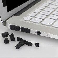 12 шт./компл. профессиональная силиконовая противопылезащитная Заглушка Крышка Пробка для ноутбука Пылезащитная заглушка для USB крышка набор подходит для Macbook