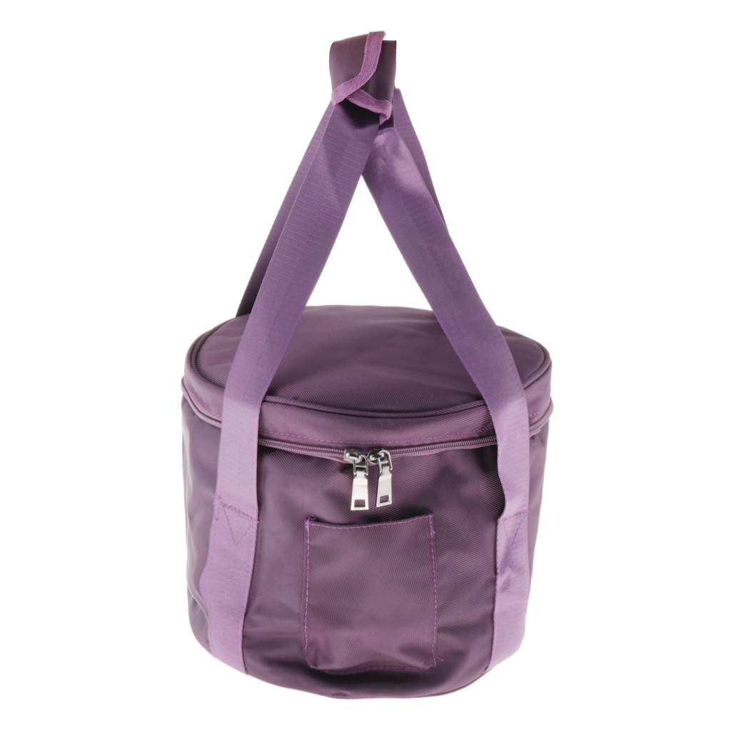 Double Zippers Carry Bags Oxford Cloth Carrier Case Bag For 12inch Crystal Singing Bowl Storage