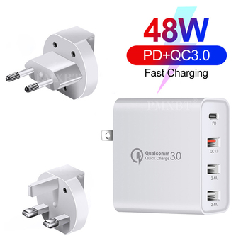 48W Quick Charger Type C USB PD Charger For iPhone 11 Pro Max XS MacBook Mobile Phone Type-C to USB-C EU US UK Plug Adapter Wall 36w usb charger quick charge 4 0 pd 3 0 type c fast charger us eu uk plug power adapter for iphone 11 pro max xiaomi mi 9 qc3 0