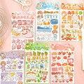 Mohamm 4Pcs Meng Meng Tagebuch Serie Aufkleber Dekoration Scrapbooking Papier Kreative Stationäre Schule Liefert
