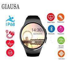 цена на KW18 Bluetooth smart watch full screen Support SIM TF Card Smartwatch Phone Heart Rate for apple gear s2 huawei xiaomi amazfit
