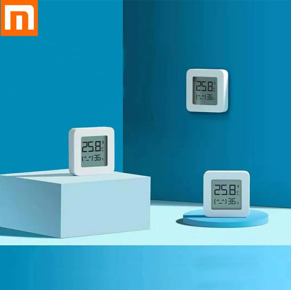 In Stock  Xiaomi Smart LCD Screen Digital Thermometer 2 Mijia Bluetooth Temperature Humidity Sensor Moisture Meter Mijia App