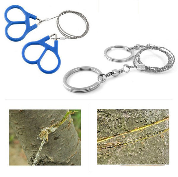 Survival Steel Wire Handsaw Emergency Survival Tool Camping Hiking Hunting Climbing Gear Outdoor Survival Emergency Cutting Tool