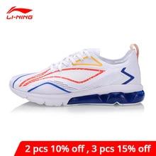 Li ning גברים בועת קשת כרית נעלי ריצה לנשימה רירית לי ספורט נעלי סניקרס ביש ARHP043 XYP928