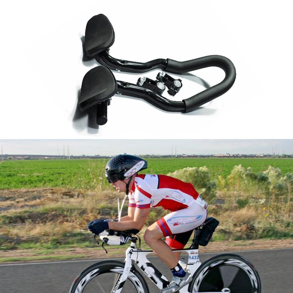 TT Handlebar Aero Bars Triathlon Time Trial Cycling Rest Moutain Bike  /_