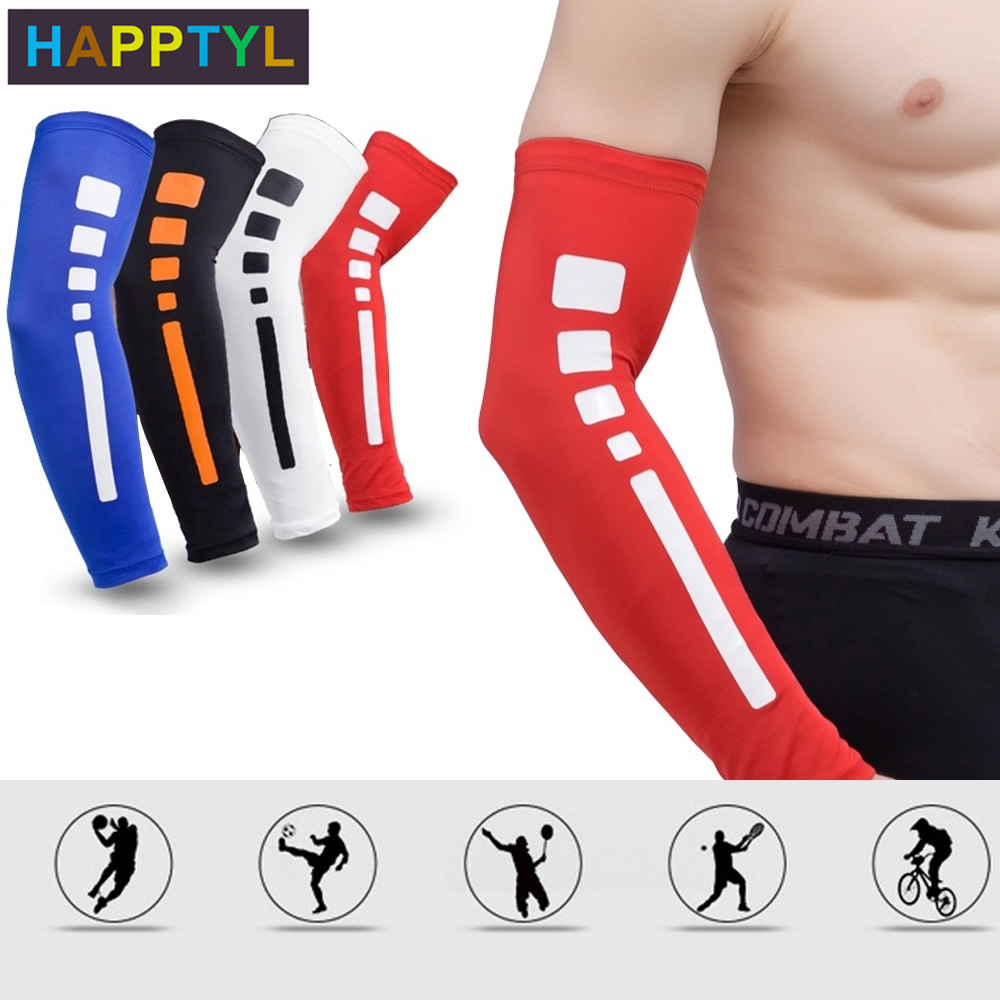 HAPPTYL 1Pcs ARM SLEEVE For Men Women Youth. UV Sports Compression For: Baseball Basketball Football Bowling Tennis Golf