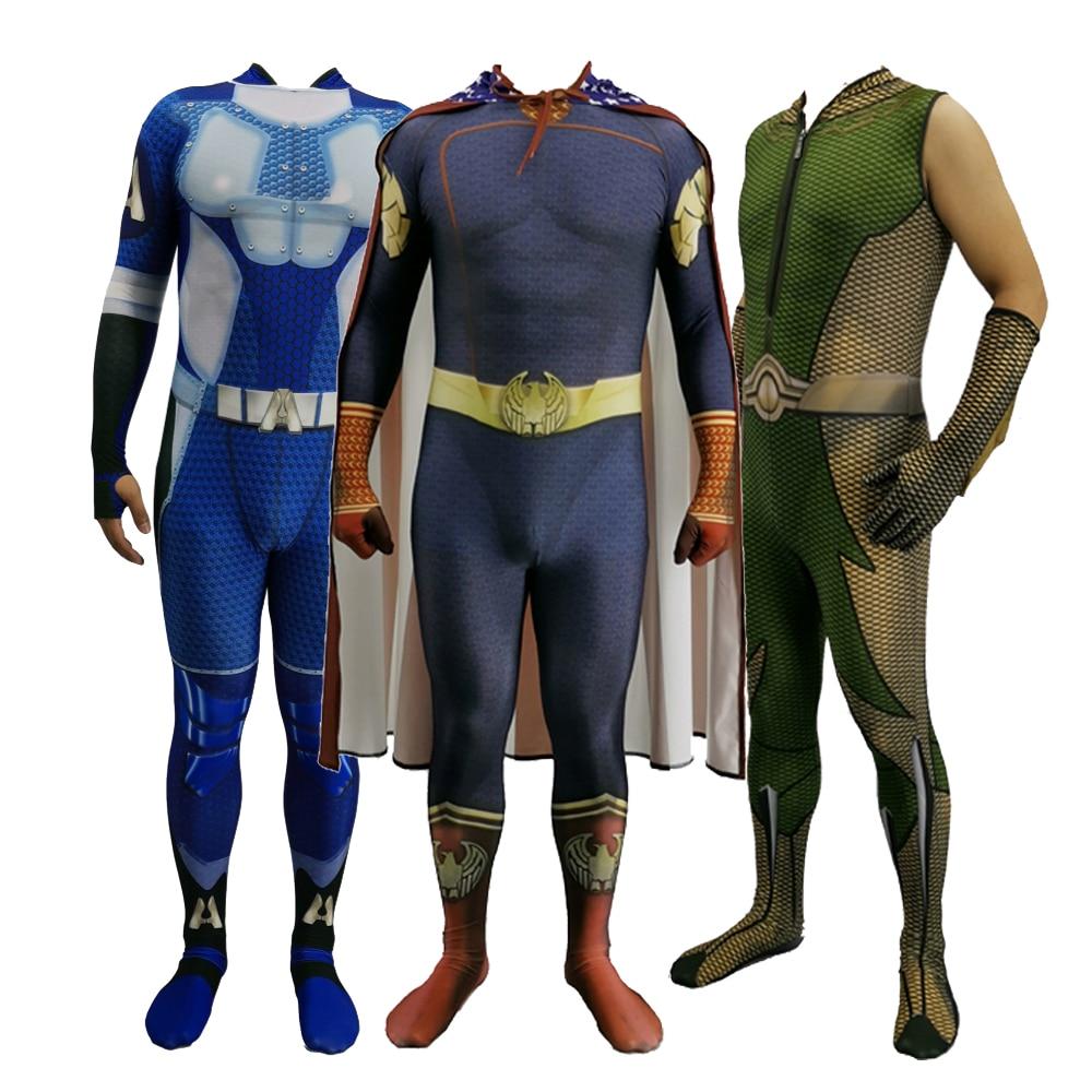 2020  Homelander The Deep Boys Cosplay Costume Halloween Costumes The Seven Homelander A-Train Super Hero Costumes Jumpsuits 1