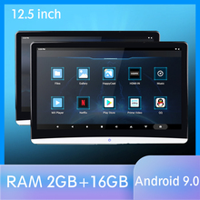 12.5 Inch Android 9.0 Auto Hoofdsteun Monitor 1920*1080 Hd 1080P Video Ips Touchscreen Wifi Bt Usb sd Hdmi Fm MP5 Video Speler