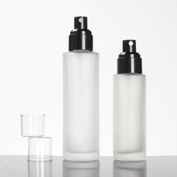 120ml Glass Clear Frosted Lotion/Spray Face Serum Bottle 4oz