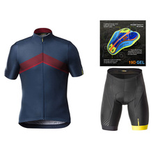 nw mavic cycling clothing 2019 Team Pro Cycling Jersey Short Sleeve Set Ropa Ciclismo Men Summer Quick Dry Bike Maillots Culotte
