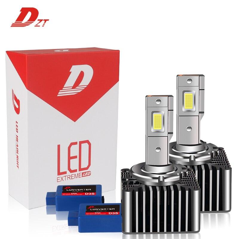Для автомобиля D3S D3R D8S 12В 55 Вт 21000LM 6500k светодиодное освещение для autu мобис балласт специального назначения заменить ксеноновые лампы фары