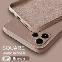 Custodia in Silicone liquido quadrata ufficiale ASTUBIA per iPhone 11 12 Pro Max Mini XS MAX XR X XS 7 8 PLUS SE 2020 Cover protettiva completa