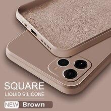 Astúbia oficial quadrado líquido silicone caso para iphone 11 12 pro max mini xs max xr x xs 7 8 plus se 2020 capa protetora completa