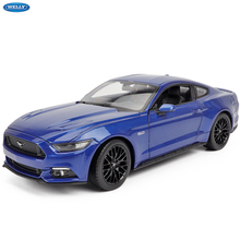 WELLY 1:24 2015 Ford Mustang alloy car model crafts decoration collection toy tools gift