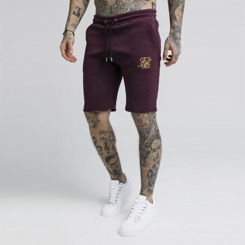 Joggers Men Sik Silk Shorts Sportswear Gyms Sik Short Pants Fitness Workout Siksilk Sweatpants Hip Hop Casual Silk Silk Shorts