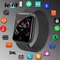 Reloj inteligente de acero inoxidable para hombre y mujer, reloj inteligente para Android IOS Electronics, reloj inteligente, pulsera de seguimiento de Fitness