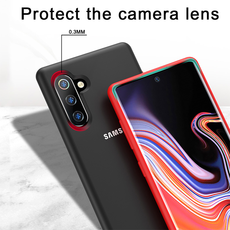 Samsung Galaxy S10 5G Case Original Samsung S8 S9 S10 Note 10 Plus 5G Cover Note 8 9 10 S10 Soft Liquid Silicone Back Phone Case in Half wrapped Cases from Cellphones Telecommunications