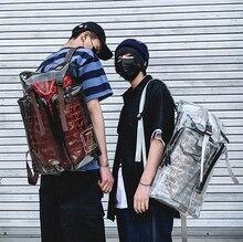 Personality Men Reflective Street Composite Backpack Unisex Hip Hop Style Travel Couple Bag Big College Cloth Bags Mochila D941