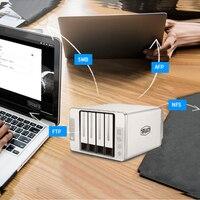 Servidor NAS 4Bay para negocios/hogar, almacenamiento de red de 4 Hdd de alta velocidad, 124 Mb/s, con función Raid, compatible con acceso de teléfono inteligente