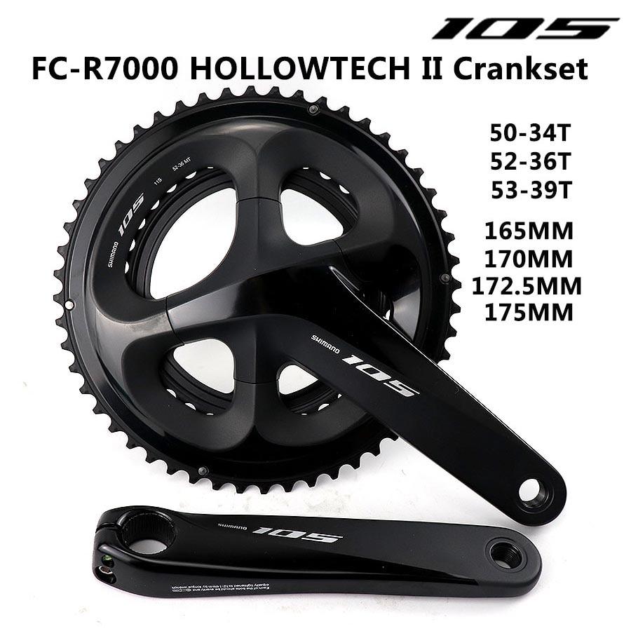 105 fc r7000 hollowtech ii cambota 2x11-speed bicicleta de estrada 170mm 172.5mm 175mm 50-34 t 52-36 t 53-39 t roda dentada