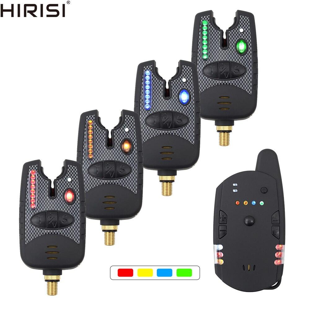 Carp Fishing Bite Alarms Set  LED Band With Volume Tone Sensitivity Control