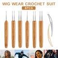 8 pçs dreadlock crochê gancho ferramenta trança cabelo tecer crochê dreadlocks agulha tecelagem kit estilo ferramentas de cabelo acessórios