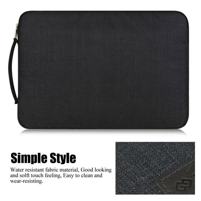 Black Wiwu Multi Pockets Sleeve For Laptop And MacBook Air & Pro  2