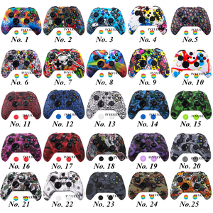 Image 2 - IVYUEEN Silicone Protective Skin Case for XBox One X S Controller Protector Water Transfer Printing Camouflage Cover Grips Caps
