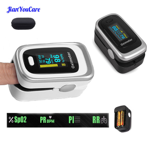 Image 1 - Finger Pulse Fingertip Oled Oximeter SPO2 PR PI RR Blood Oxygen With Respiratory Rate Oximetro De Pulsioximetro Dedo and case