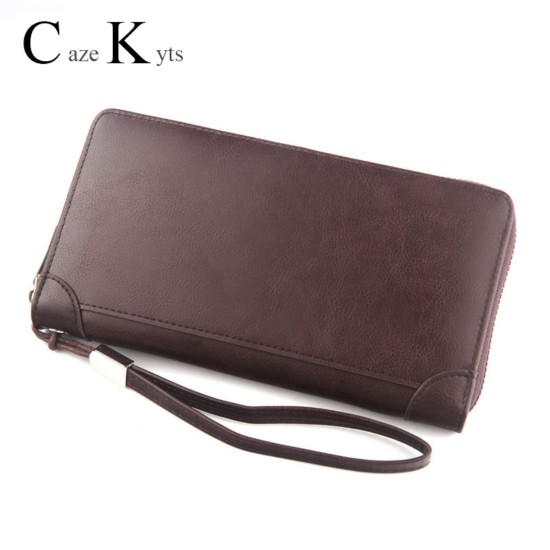 Men's And Women's Long Wallet Fashion Casual Classic Retro Multi-function Large Capacity Zipper Can Put Mobile Phone Clutch