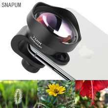 SNAPUM Professional mobile Phone Camera Lens 75mm 10X Macro Lens HD No Distortion DSLR Effect Clip on for Smart Phone cellphone