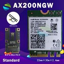 Carte réseau Wifi double bande, 2400/5 ghz/5.0/11ac/ax, 2.4 mb/s, avec Bluetooth 802, NGFF M.2, pour Intel AX200