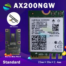 Dual Band 2400Mbps Wireless AX200NGW NGFF M.2 Bluetooth 5.0 Wifi Network Card 2.4G/5G 802.11ac/ax For Intel AX200