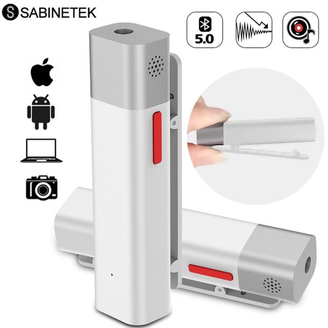 SabineTek SmartMike + Bluetooth Không Dây Lavalier Microphone Cho Máy DSLR Camera Điện Thoại Máy Tính Ve Áo Mic Vlogging Youtuber Ghi Âm