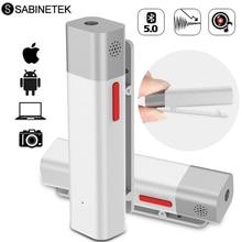 SabineTek SmartMike + microfono Lavalier Wireless Bluetooth per fotocamera DSLR telefono Computer bavero Mic registrazione Youtuber