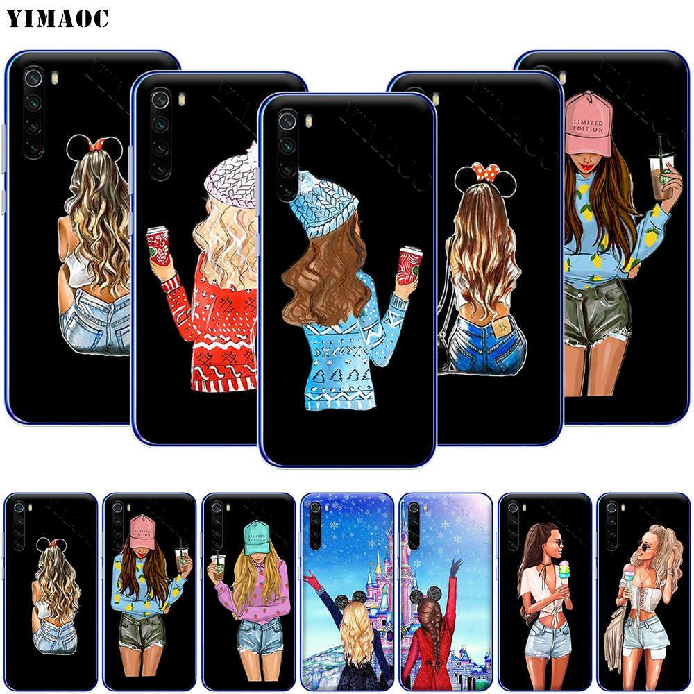 YIMAOC 親友 BFF 電話ケース xiaomi Redmi 注 8 8A 7 6 5 5A プロ 4X 4A プライムプラス
