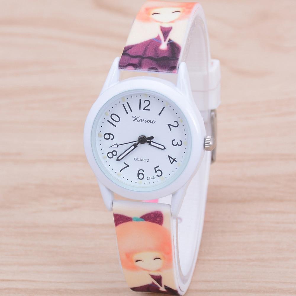 2020 New Hot Sale Super Cute Cartoon Children Watch Kids Girls Fashion Quartz Watches Luminous Student Silicone Strap Wristwatch