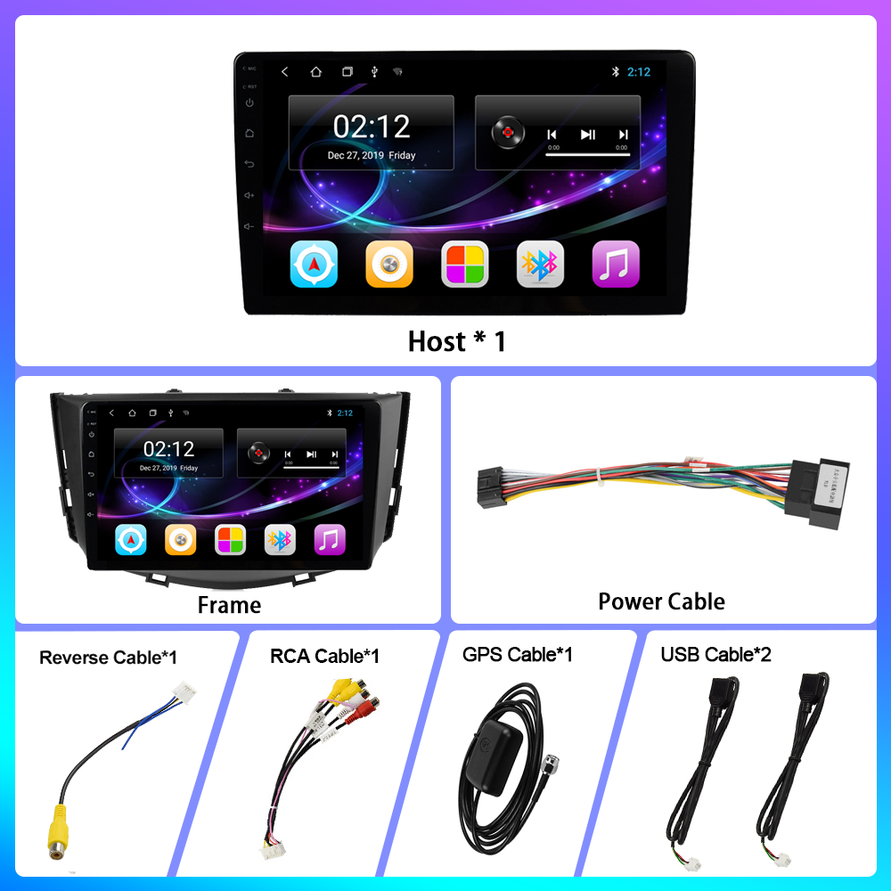 "Oknavi untuk Lifan X60 2011-2016 2 DIN Mobil Radio 9 ""Auto Radio Multimedia Player Layar Sentuh Audio Stereo bluetooth Kamera Cadangan"
