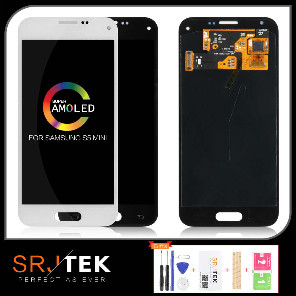 AMOLED/TFT LCD for <font><b>SAMSUNG</b></font> Galaxy S5 MINI G800 <font><b>G800F</b></font> LCD Touch Screen Digitizer Replacement+Home Buttom S5 MINI <font><b>Display</b></font> image